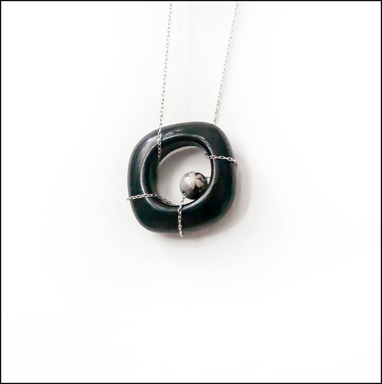 Porcelain Pendant in Black