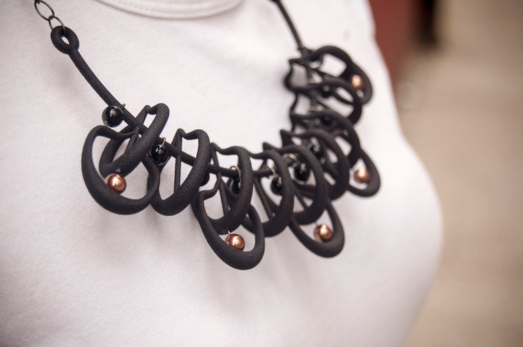 Petal Necklace in Black