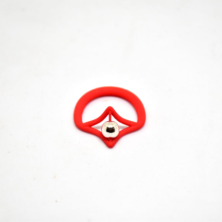 Petal Simple Ring in Red