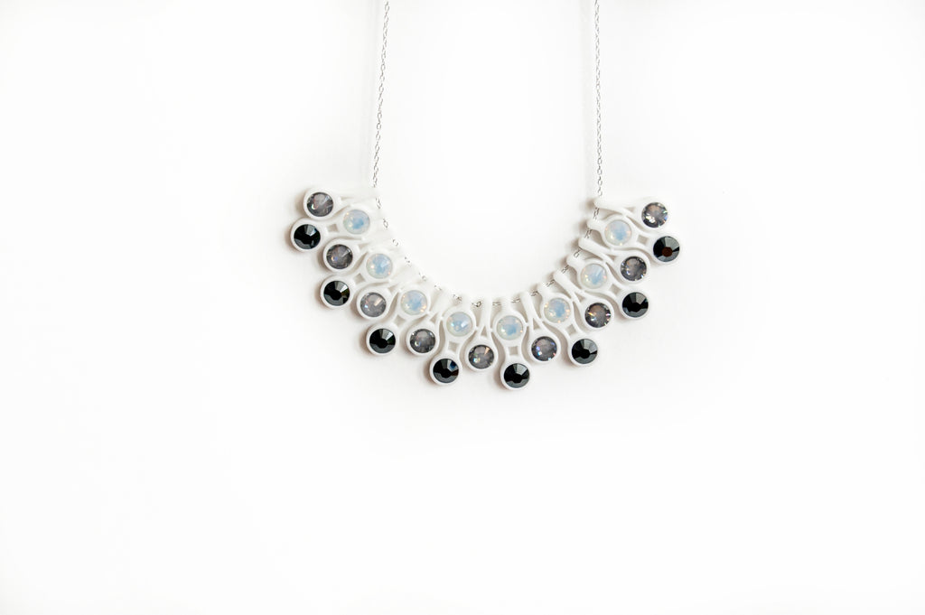 Dewdrop Necklace in White
