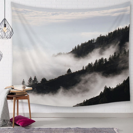 Misty Mountain Forest Tapestry