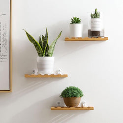Decorative Bamboo Wall Shelf - Nazamida