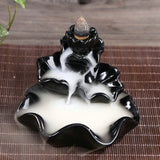 Handmade Lotus Multi Use Ceramic Incense Burner - Nazamida
