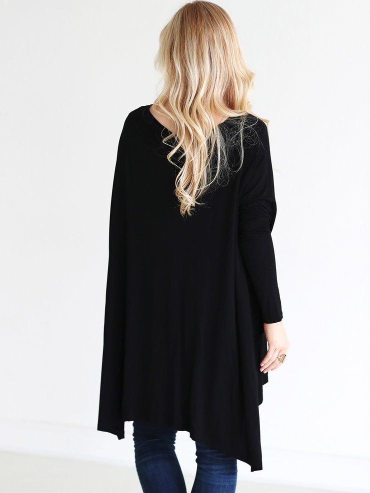 Ready to Ship - Bamboo Oversized Tee - Black