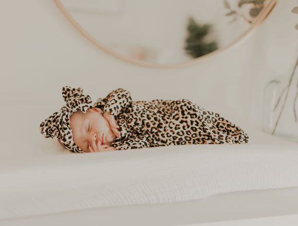 Leopard Baby Gown