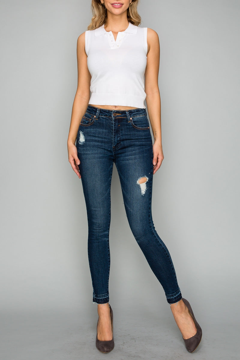 High Waisted Skinny Ankle Jeans