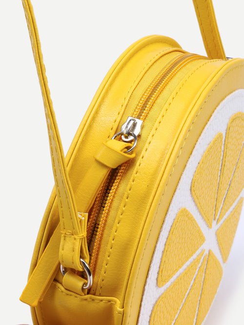 Yellow Lemon Conversation Purse