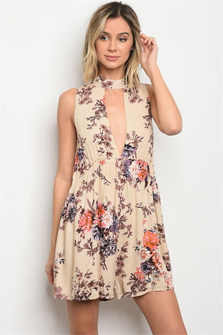 Wrap and Tie Floral Crop Top