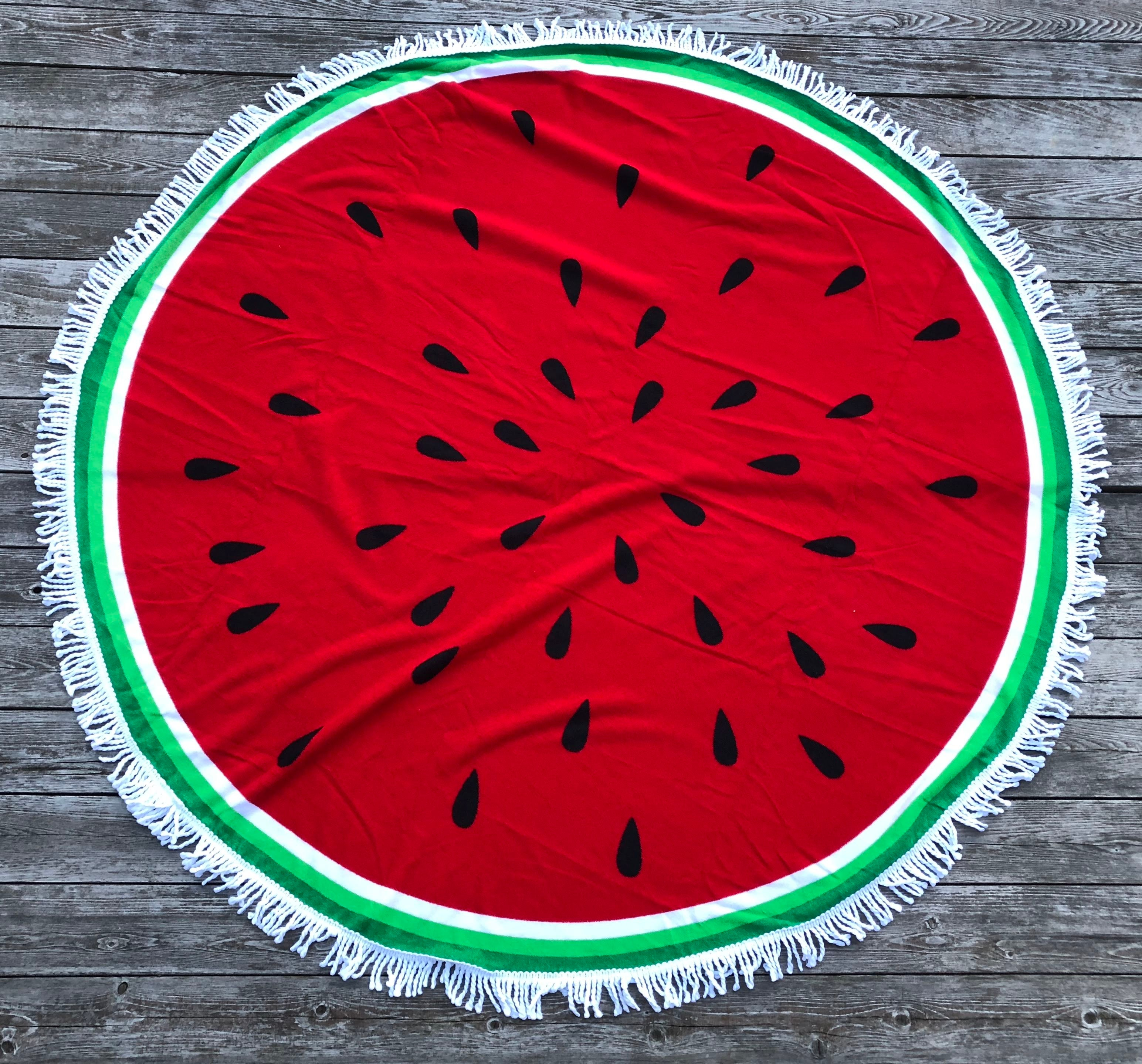 Watermelon Round Cover-up Towel Blanket