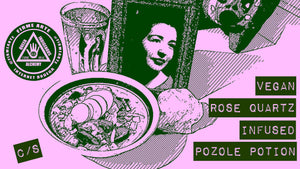 RECIPE: Vegan Rose Quartz Infused Pozole Potion