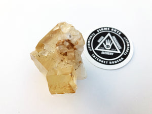 Golden Calcite w/ Apophyllite
