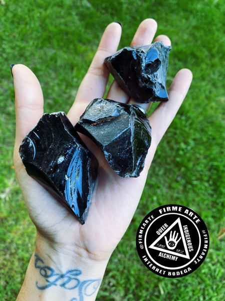 Crystals | Raw Black Obsidian | Volcanic form