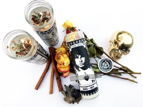Nuevo Santos Candle | Sacred Heart of Jim Morrison