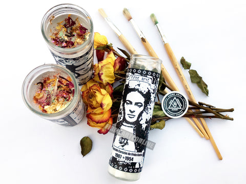 Nuevo Santos Candle | Sacred Heart Of Frida Kahlo