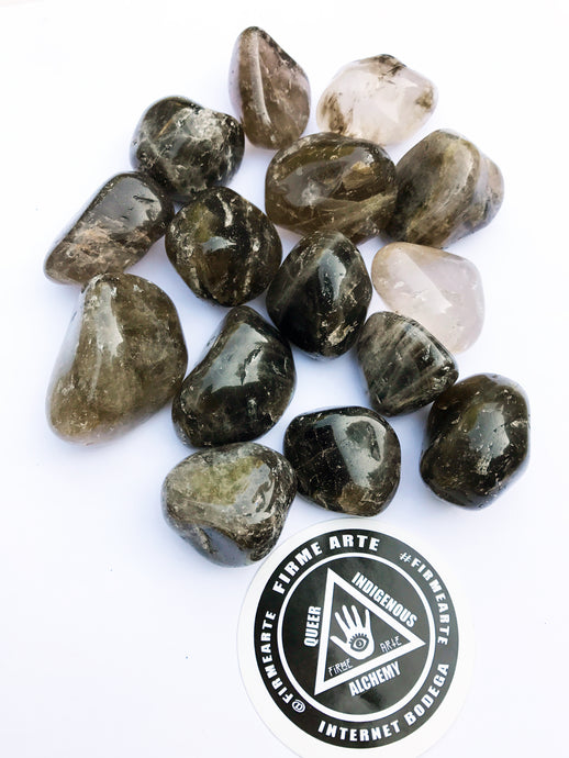 Tumbled Smoky Quartz Crystal Companion