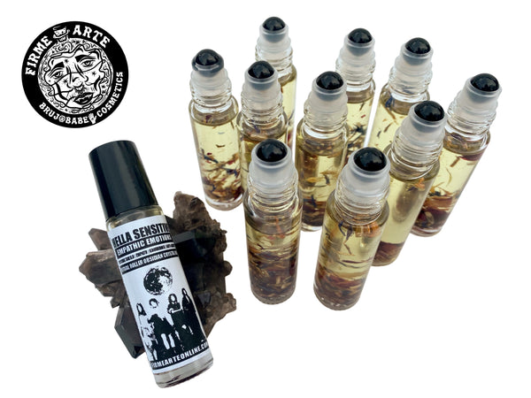 Ritual Roller Crystal Oil | Hella Sensitive | Black Obsidian | Empathic Emotions