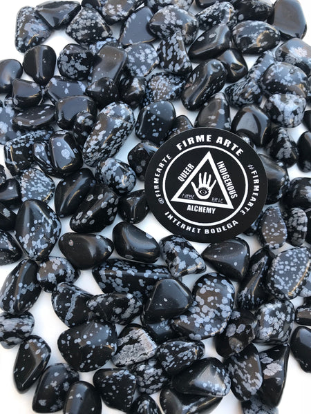 Crystals | Snowflake Obsidian | tumbled