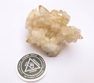 Stellar-Beam Golden Calcite Cluster
