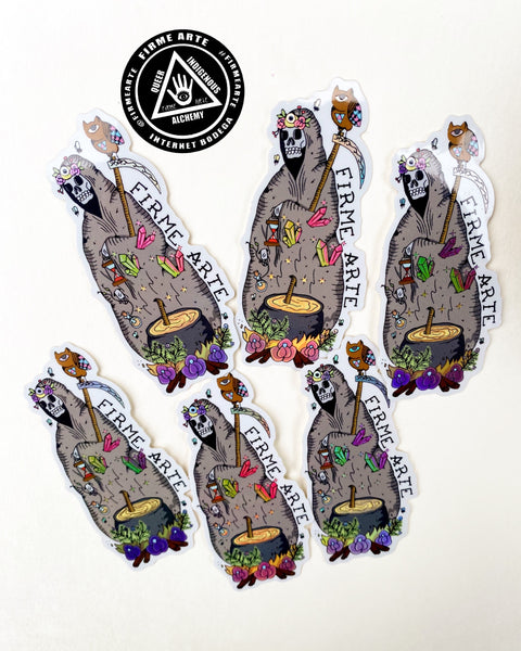 Stickers | Holographic | Santa Muerte | Cauldron