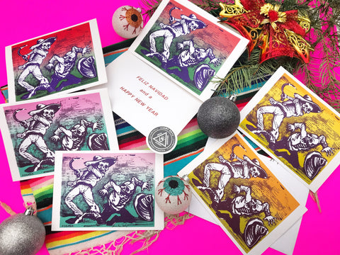 Ancestral Collaboration- Firme Familia Chicano Xmas Cards from the 1980's