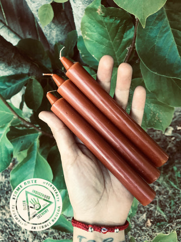 Taper Candles | BROWN | 6 inch