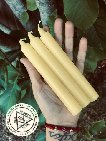 Taper Candles | YELLOW | 6 inch