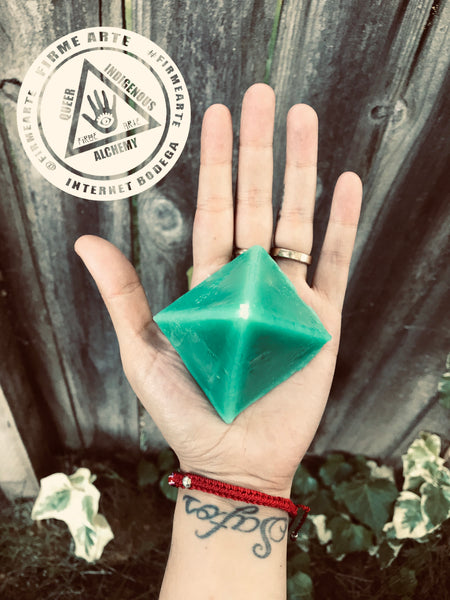 Figure Candles  | Pyramid | Green | Mini