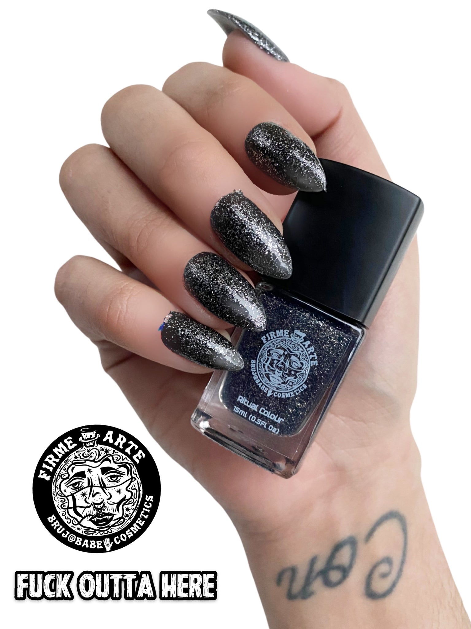 Nail Worship | Crystal Infused | Ritual Colour | Fuck Outta Here