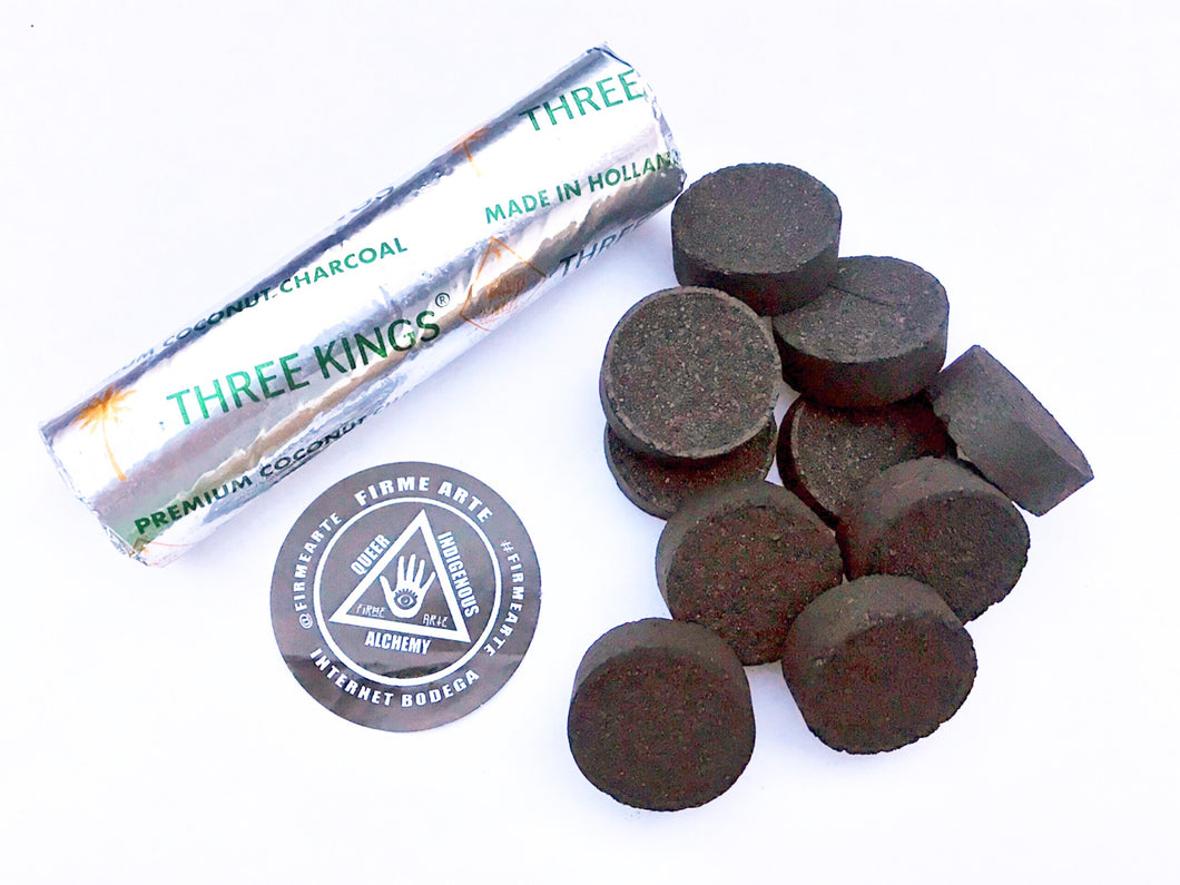 Incense Charcoal | For Burning Raw Resin + Incense