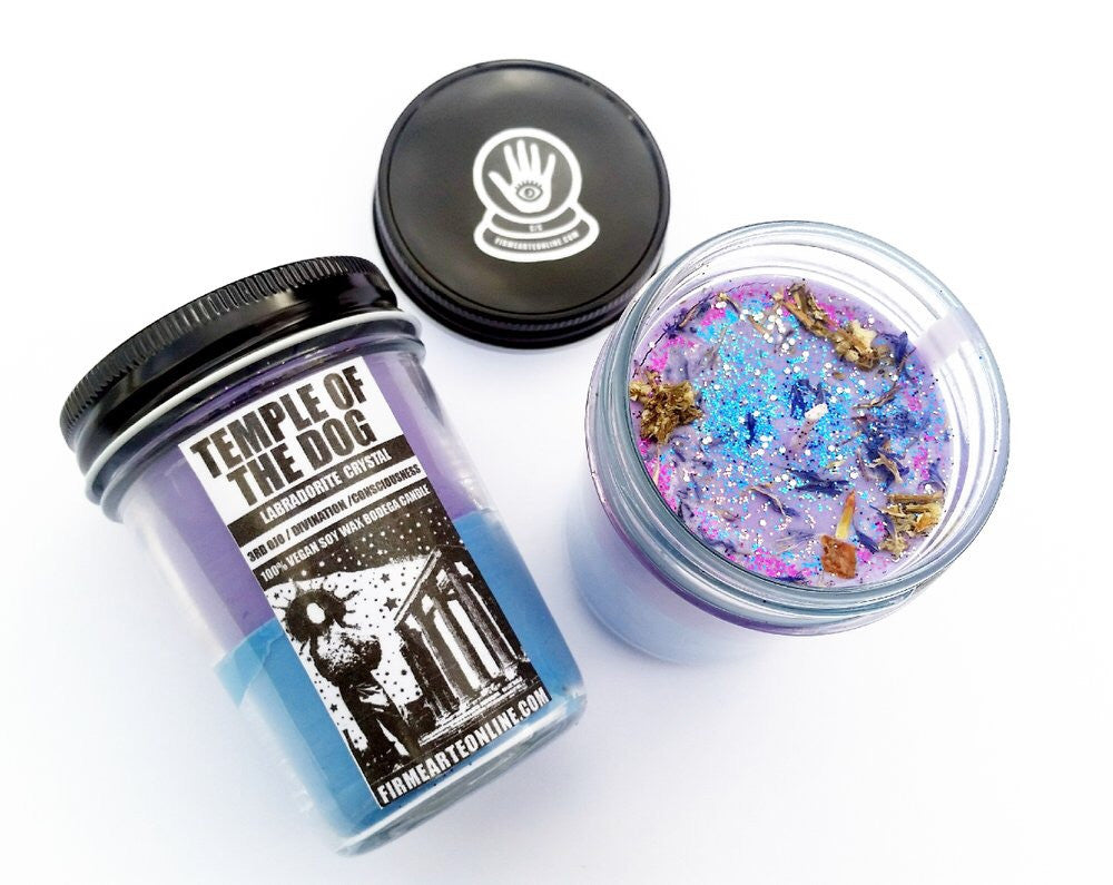 Temple Of The Dog Crystal Companion Candle