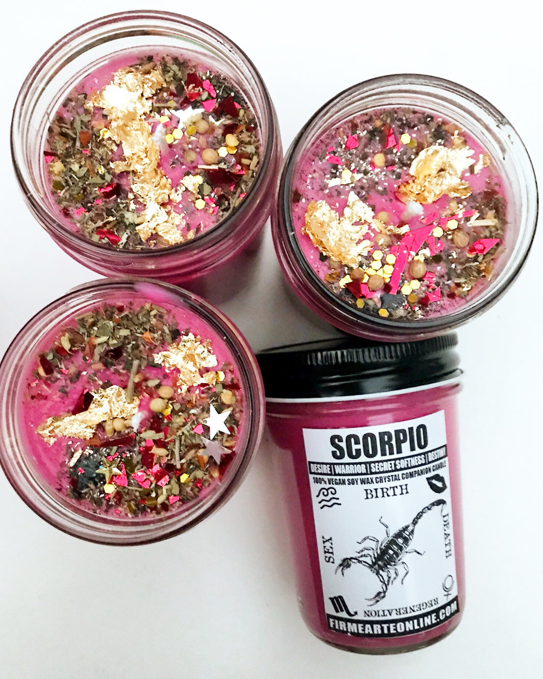 Scorpio | October 23rd - November 21st | Crystal Companion Candles