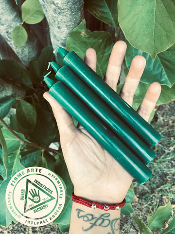 Taper Candles | GREEN | 6 inch