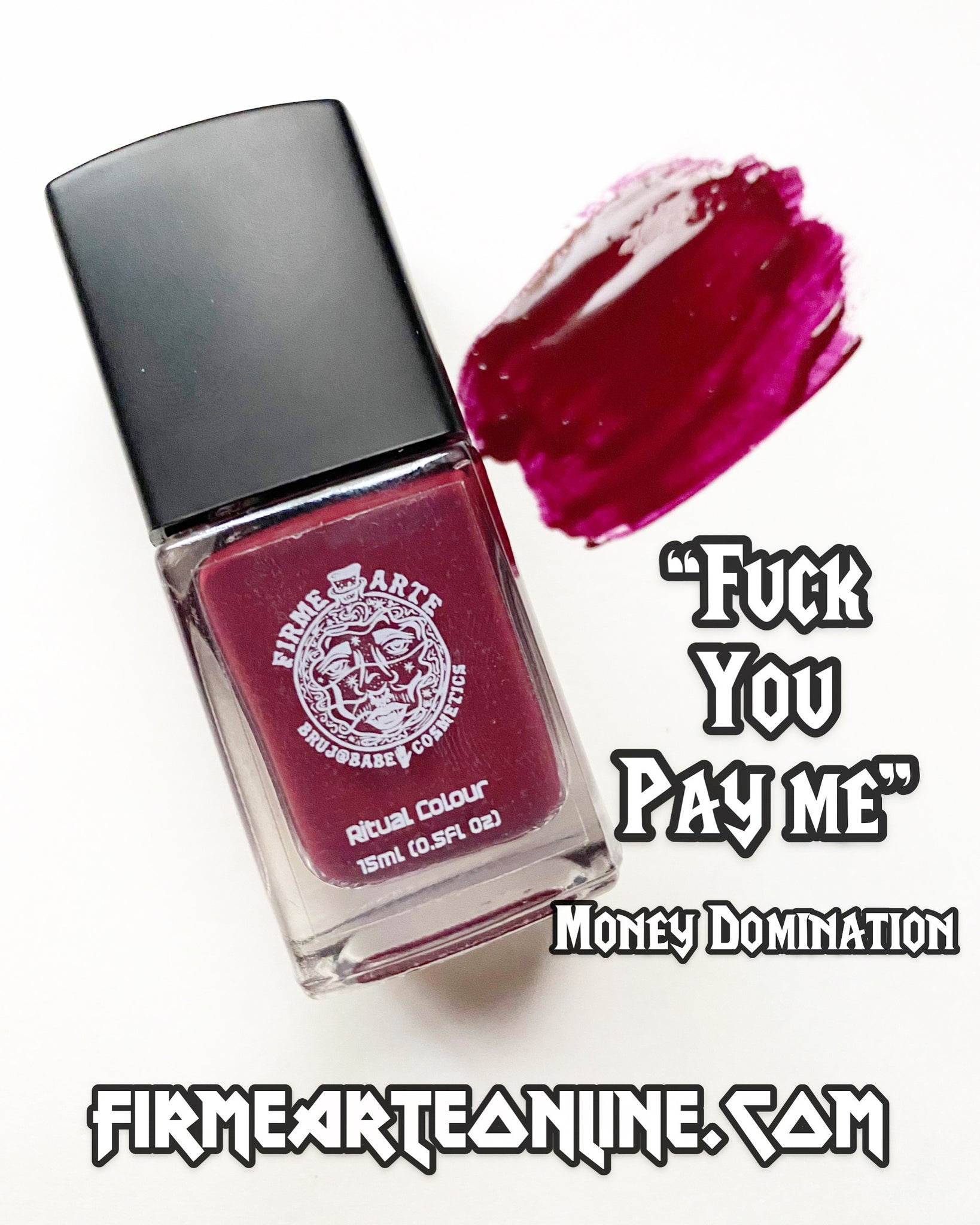 Nail Worship | Crystal Infused | Ritual Colour | Fuck You Pay Me