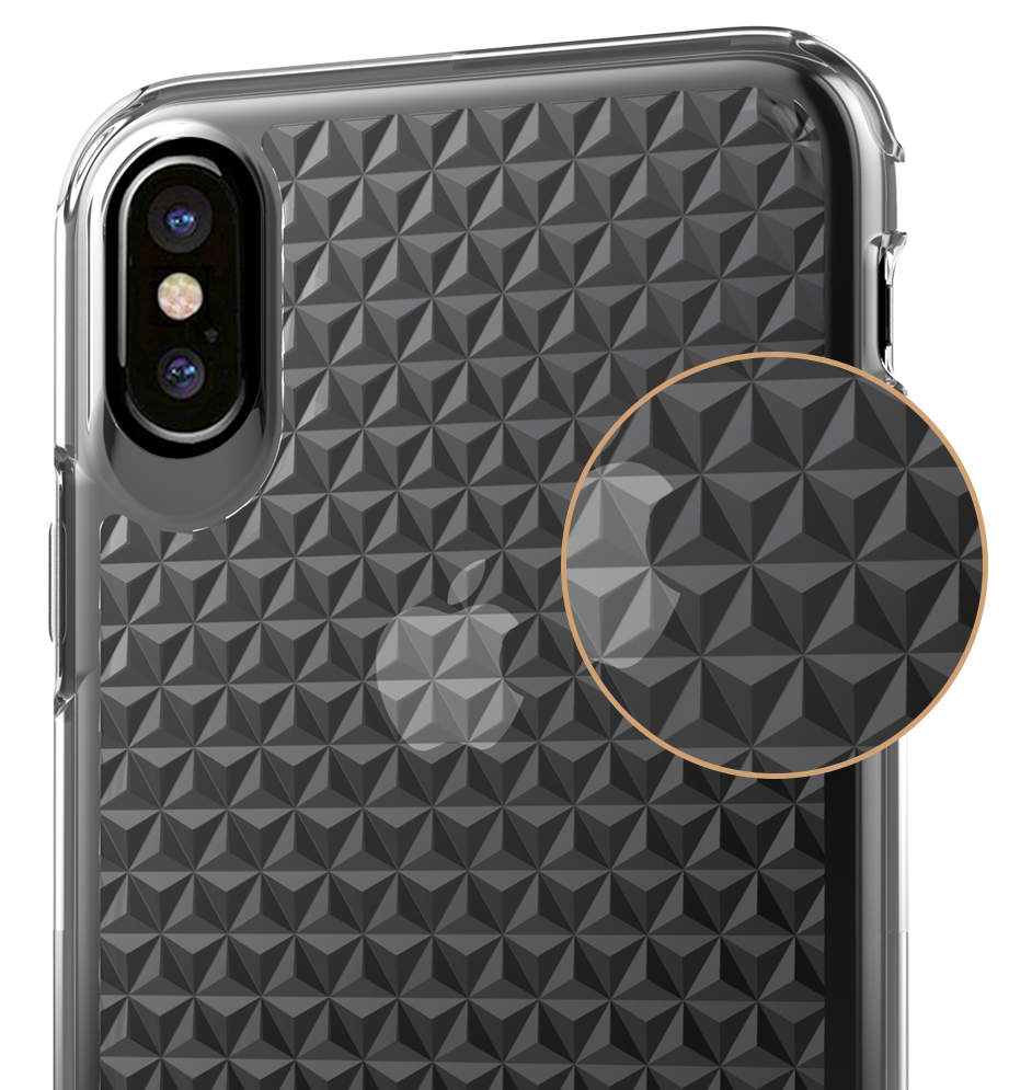 PureView Clear Case - Inlaid Diamond Design