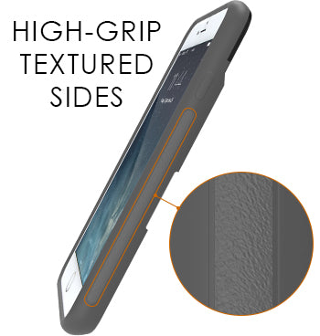 High-grip textured sides