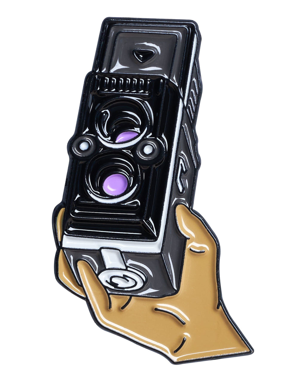 Hand Holding TLR Camera Pin
