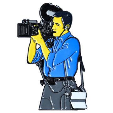 Cinema Camera Man Pin