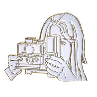 Instant Camera Lady Pin