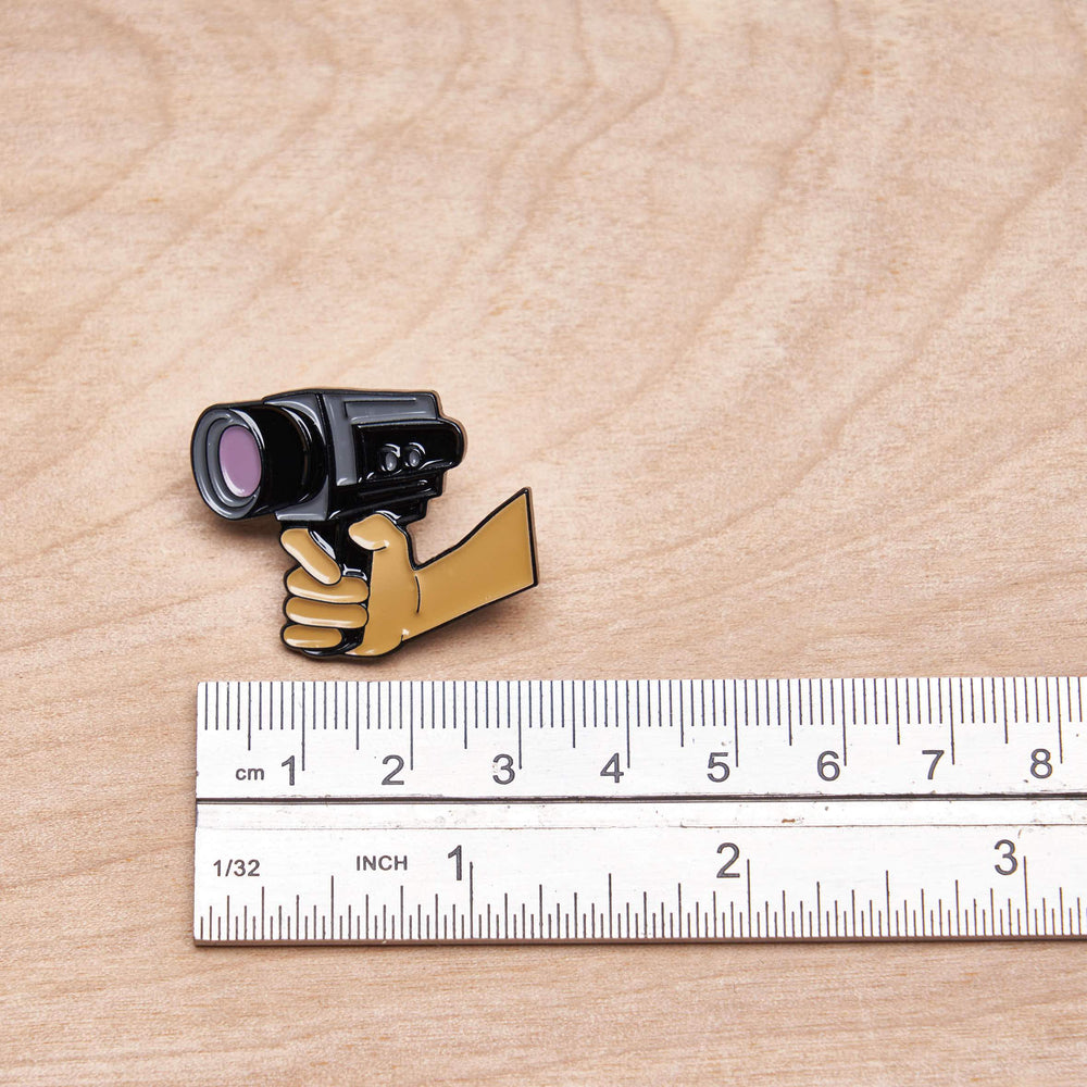 Hands Shooting Cinema Film Camera Pin