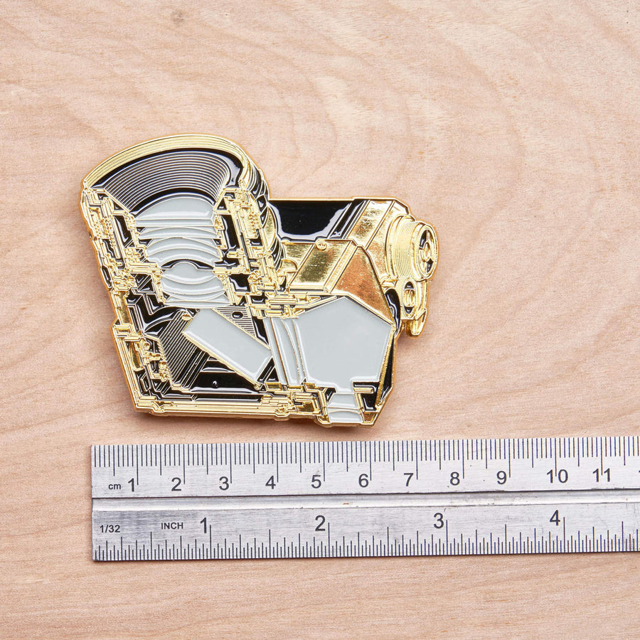 Cross Section of SLR Camera Gold Pin