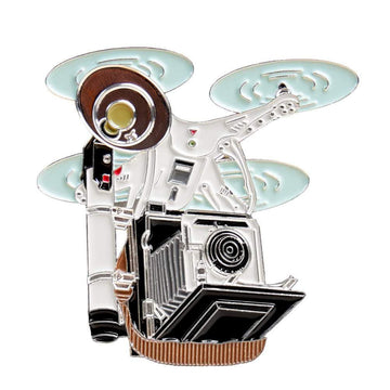 Flying Speed Graphic Drone Camera Pin