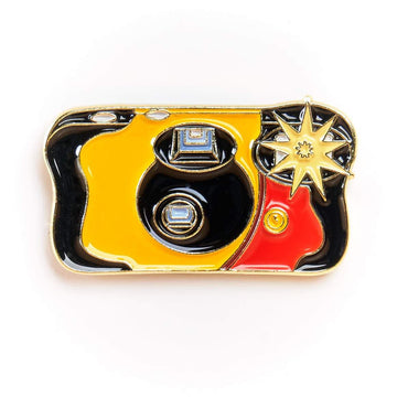 Flashing Disposable Camera #2 Pin Gold Variant