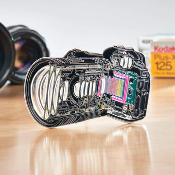 DSLR Cross Section Pin with Transparent Lens