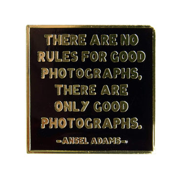Ansel Adams Quote Pin Black