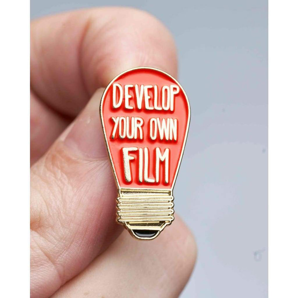 Develop Your Own Film Darkroom Red Bulb Pin - pins