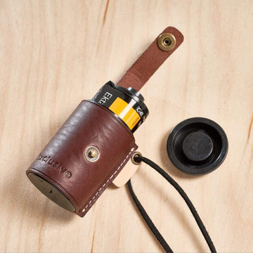 Leather Film Case (Mahogany) - Film Case