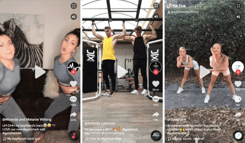 TikTok Social Media Success for Gym Shark
