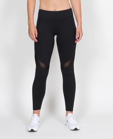 Long Black Mesh Leggings - Slyletica