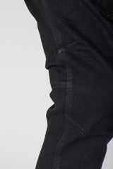 Cargo Track Jeans (Black)