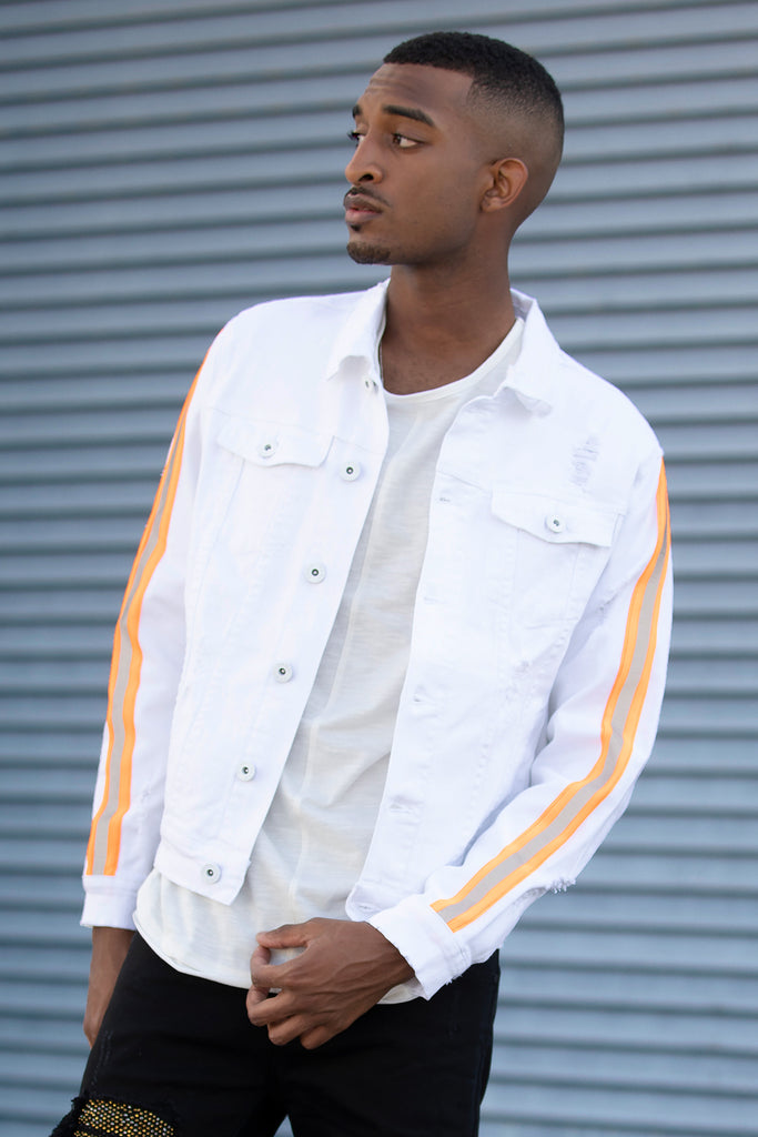 Reflective Taped Jacket (White)